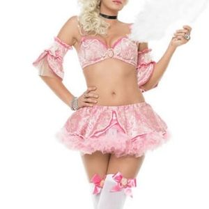 Marie Antoinette costume pink ruffle glam doll